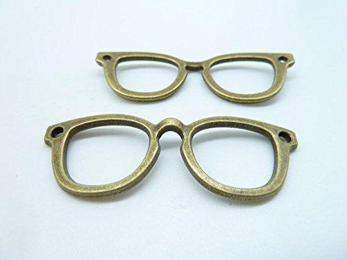 - 10pcs 20x57mm Antique Bronze Lovely Filigree Eyeglasses Charms Pendant C3852