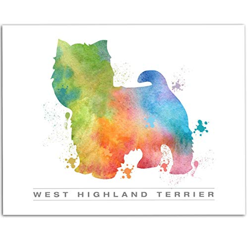 (West Highland Terrier Watercolor - 11x14 Unframed Art Print - Great Great Gift for Dog Lovers, Also Makes a Great Gift Under $15)