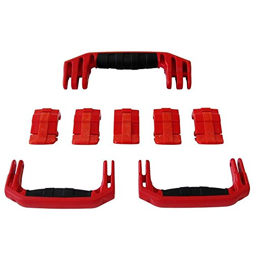 3 Red Replacement Handles/5 Latches for Pelican 1615 or 1637. Customize your Pelican Case.