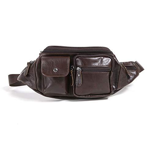 Ambiguity Waist Bag, Leather Casual Waist Bag, Bum Bag, high-Grade Cowhide Satchel -101420.5