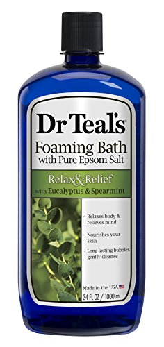 Dr. Teal's Foaming Bath, Eucalyptus Spearmint, 32 Fl Oz (Pack of 2)