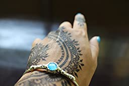 Henna Stencil Tattoo (10 Sheets) Self-Adhesive Beautiful Body Art Designs - Temporary Tattoo Temples