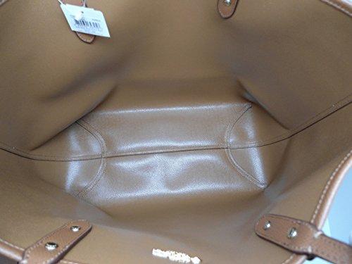 Saddle City Tote Signature F36609 Coach Khaki PVC Reversible Xwqt8ZB0