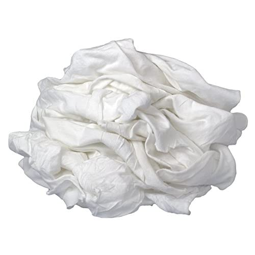 Image of Chamois Buffalo Industries (12025) New Bleached Knit Cloth Rag - 50 lb. box