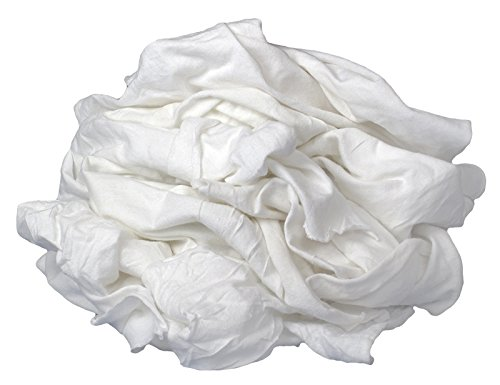 White Bleached Knit (Buffalo Industries (12025) New Bleached Knit Cloth Rag - 50 lb. box)