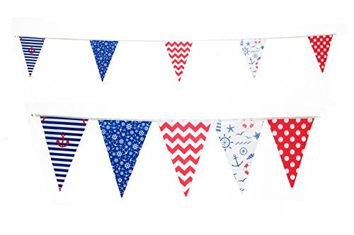 Nautical Sailing Themed Pennant Lake Party Flags by Gabby Fun Corp]()