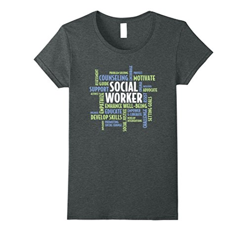 Womens Social Worker t-shirt for Social Work Month Medium Dark Heather