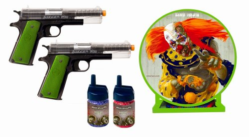 Crosman Undead Apocalypse Zombie Stinger Airsoft Challenge Kit with 2 Pistols Target Board and BB