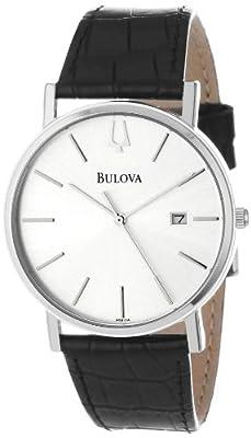 Bulova Men's 96B104 Strap Silver Dial Watch by Bulova