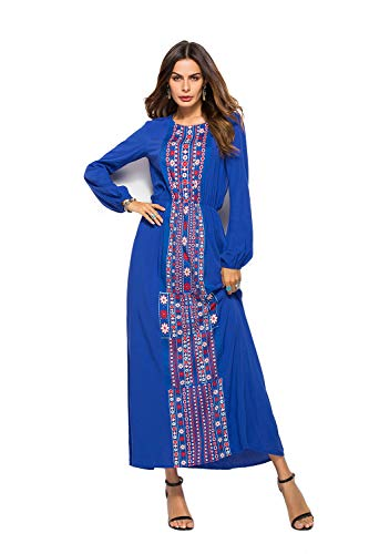 manches pour longues Maxi Robe OWMMIZ Wrap blue femme qxvB8nwan
