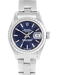 79240 Ladies 26mm Datejust Model - Blue Stick - Engine Turn Bezel - Oyster Band (Certified Pre-Owned)