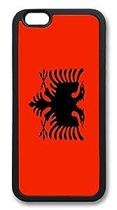 ACESR Albania Flag Custom iPhone 4 4s Case TPU Back Cover Case for Apple iPhone 4 4s Black