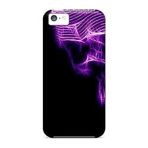 Iphone 5c Lms25311AuBe Purple Skull Cases Covers. Fits Iphone 5c