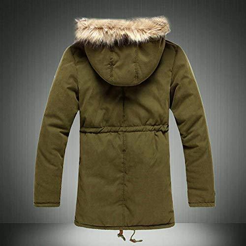 Di Uomini All'aperto Lunga Cappuccio Huixin Informale Capispalla Abbigliamento Riscaldamento Velluto D'inverno Parka Degli Giacca Manica Grün Pagliaccetti Cappotto Addensare Di O5wHwq
