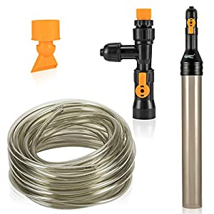 hygger Bucket-Free Aquarium Water Change Kit Fish Tank Auto Siphon Pump Gravel Cleaner Tube with Long Hose Water Changer…