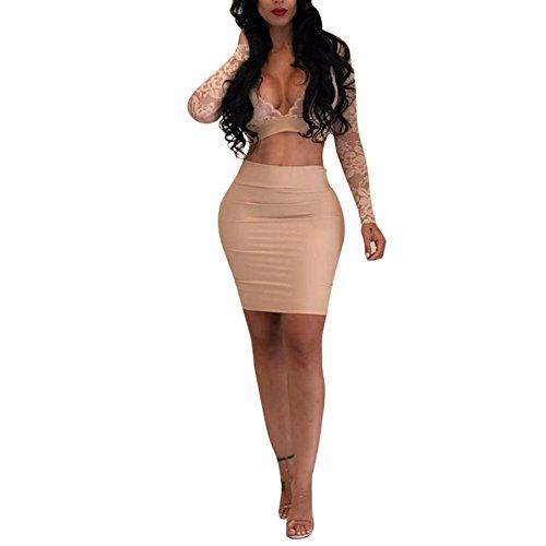 2 Piece V-Neck Skirt - 3