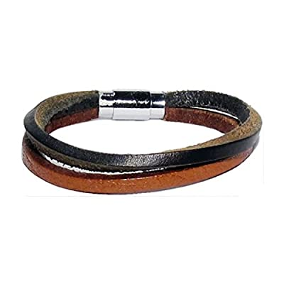 AUTHENTIC HANDMADE Leather Bracelet, Men Women Wristbands Braided Bangle Craft Multi [SKU001629]