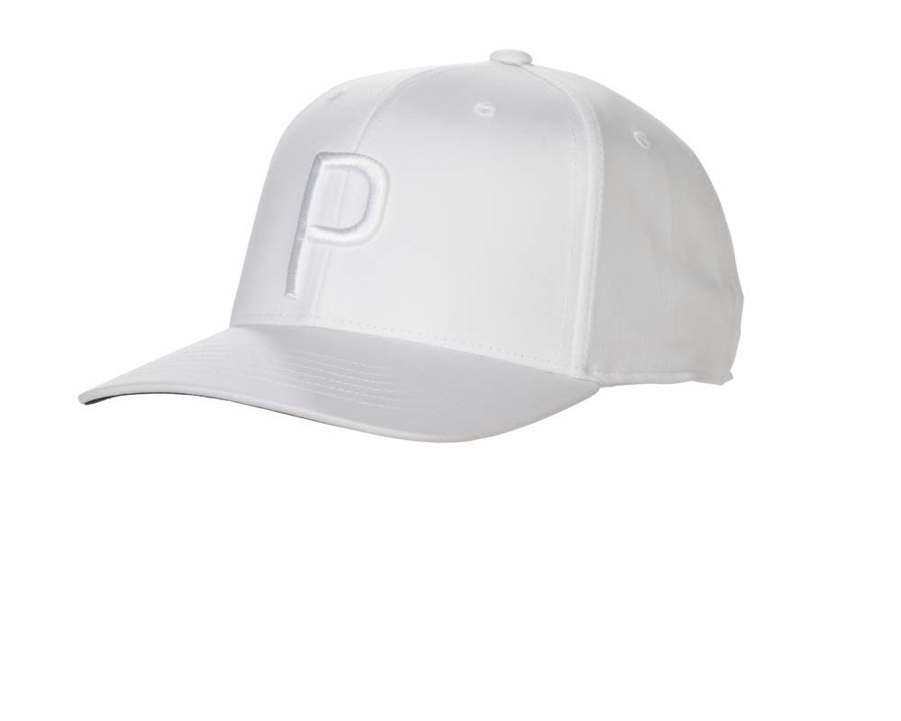 Puma Golf 2018 ''P'' Snapback Hat (One Size), Bright White / White
