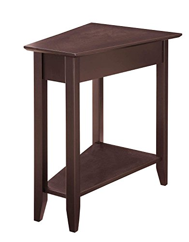 Beau SJ Collection B12600003 Harbor Modern Wedge Side Table End, Small, Espresso  By SJ Collection
