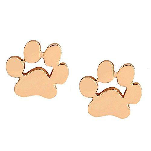 LODDD 1 Pair Women Earrings Cute Animal Feet Bear's Paw Shape Alloy Ear Stud Earrings - Glasses Cartier Wholesale