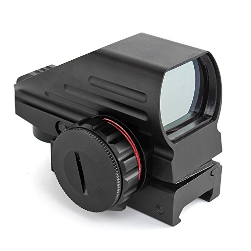 Flexzion Holographic Red and Green Dot Sight Tactical Reflex 3 Different Reticles Hunting Paintball Tool for Shotgun Rifle Pistol with Locking Screw and a Battery