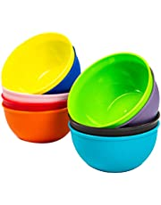 Youngever 9 Pack 10 Ounce Plastic Bowls, Small Plastic Bowls