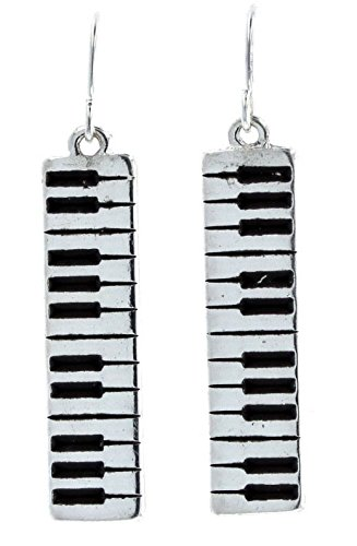 (Violet & Virtue Women's Music Note Dangle Drop Earrings (Piano Keys))