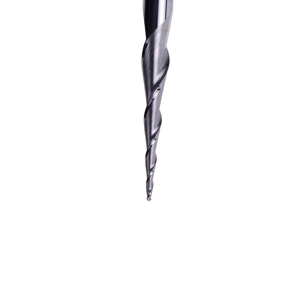 0,5/Radium 6/mm Tige Spetool CNC Outil de gravure Bille en carbure Nez fin Mill