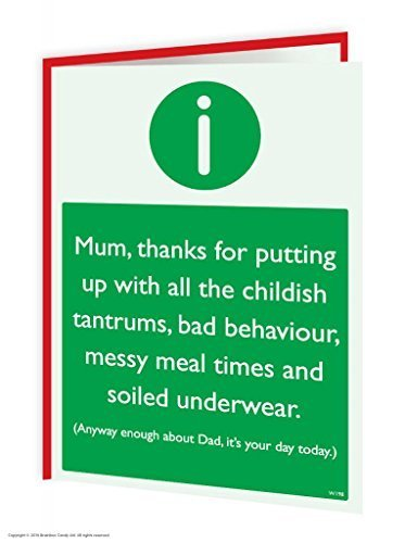 Funny Humorous 'Enough About Dad' Birthday Warning Card Brainbox Candy