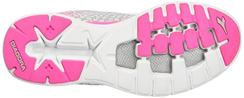 Diadora Nj-303-2 W - Entrenamiento y Correr Mujer Multicolore (C3772 Bianco/Rosa Fluo)