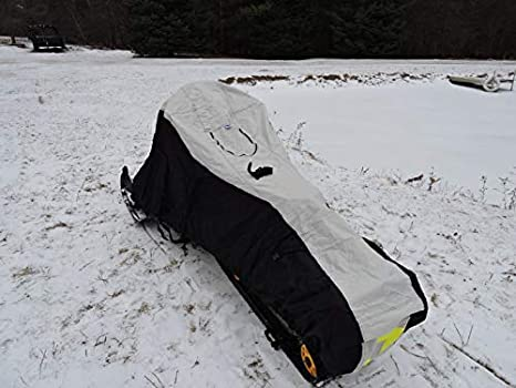 Heavy Duty Design Nanook Ultimate Snowmobile Trailering Cover Loaded with Features; fits 2up Touring sleds to 128 Chassis Length