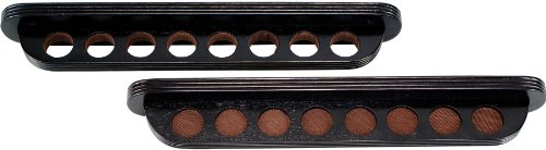- Roman Shaped 8 Pool Cue Stained Wood Wall Rack, Midnight