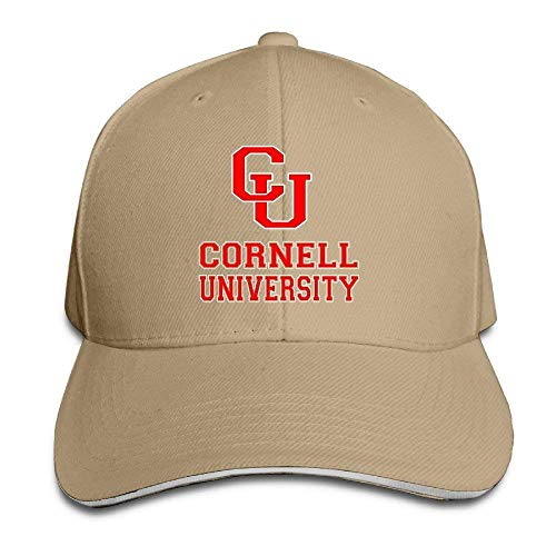 (Unisex Adjustable Cornell University with Cu Logo Sandwich Bill Baseball Sun Hat Trucker Caps)