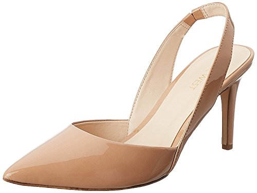 Nine West WomenS Rollover Synthetic Dress Pump, Natural Synthetic, 42 B(M) EU/9 B(M) UK
