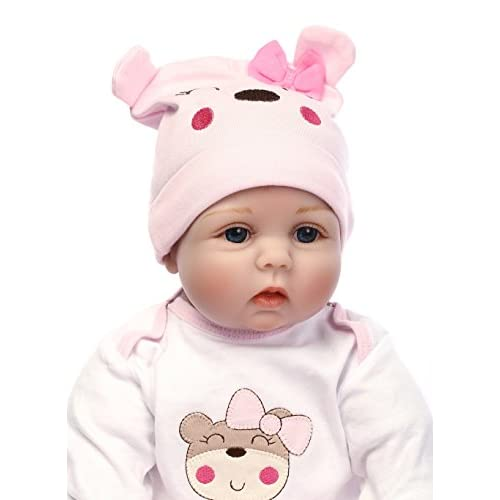 Reborn Baby Dolls 22 inch Quality Realistic Handmade Silicone Gifts for Girls