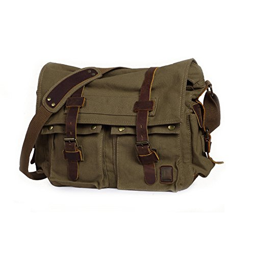 Canvas Men's Casual Bag bagwidth32cm Style European Mediumarmygreen And Yxlong Messenger Shoulder American aw5dqgq
