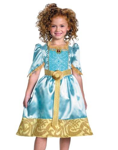 Brave Merida Classic Costume, Auqa/Gold,