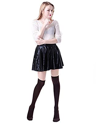 HDE Women's Solid Color Opaque Over the Knee High Stockings Socks