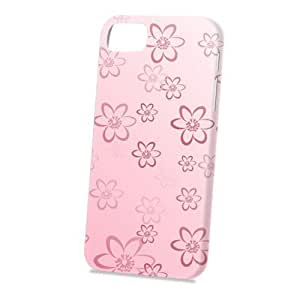 Case Fun Apple iPhone 5 / 5S Case - Vogue Version - 3D Full Wrap - Pink Daisy Pattern
