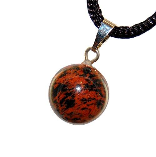 fiery-mahogany-obsidian-red-brown-black-carved-gemstone-047-full-moon-sphere-charm-pendant-on-adjust