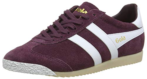 Gola Women's Harrier 50 Suede Trainers, Red (Windsor Wine/White DR), 5 UK 38 ()