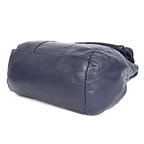 Leather Handbag Washed PU K15311 Blue Backpack gRwTw