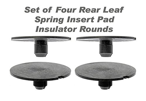 AONED Rear Leaf Spring Plastic Insert Pad Spacer Insulator Round Set Of 4 Fits 1998-2011 Chevy GMC Trucks (Replaces GM 20870046)