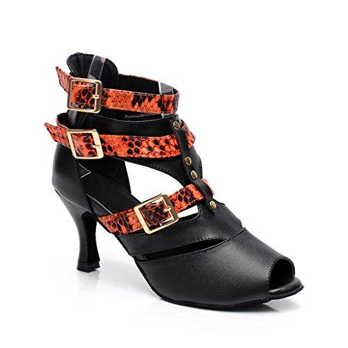 misu - Zapatillas de danza para mujer Negro negro / plateado, color Multicolor, talla 36