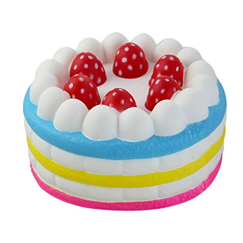 Dianli Squishies Jumbo Strawberry Cake Toys, Cute Cake Squishy Slow Rising Jumbo Squishies Toy Scented Squeeze Toy for Adult Party -