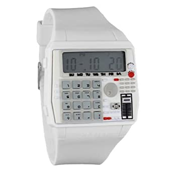 Buy Flud Men's BPM002 The BPM Digital Calculator White Watch