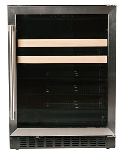Azure 24'' Built-In Beverage Center, 5.1 cu. ft. Capacity 154-Can with Glass Door with Stainless Steel Trim, A124BEV-S