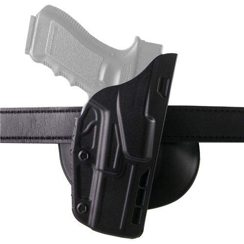 Safariland 7378 7TS ALS Concealment Holster, Flex-Paddle & Belt Loop Combo, Glock 19, 23, 32 w/ITI M3 Light, SafariSeven Plain Black, Right Hand