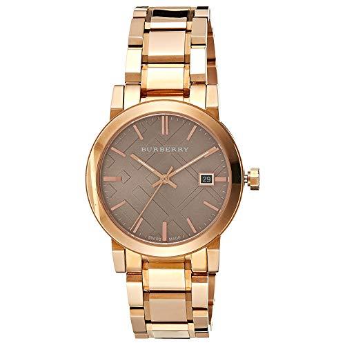 - Burberry Women's BU9005 Large Check Rosetone Stainless Steel Bracelet Watch