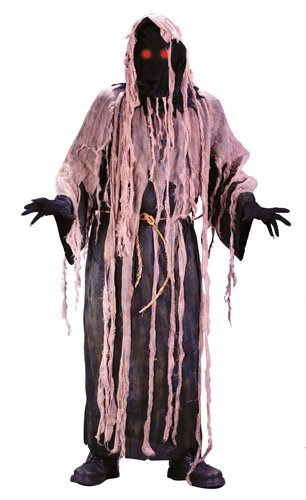 Adult Light Up Gauze Zombie Costume - One